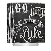 Lake House Rustic Sign Shower Curtain