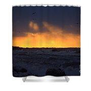 Lake Huron Arctic Blast 2 Shower Curtain