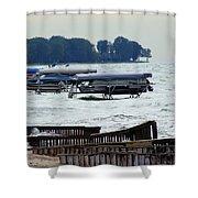 Lake Huron Shoreline Leading To Sand Point Shower Curtain