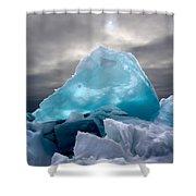 Lake Ice Berg Shower Curtain
