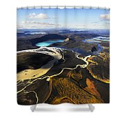 Lake In An Old Volcanic Crater Or Shower Curtain