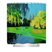 Lake In Central Park Ny Shower Curtain