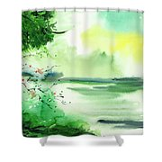 Lake In Clouds Shower Curtain