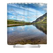Lake In Snowdonia Shower Curtain