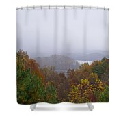 Lake In The Distance Shower Curtain