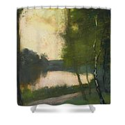 Lake In The Evening Shower Curtain