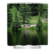 Lake Irene Dressed In Green Shower Curtain