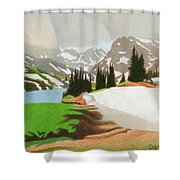 Lake Isabelle Storm Shower Curtain