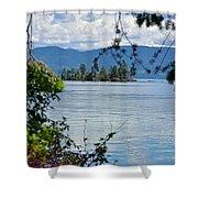 Lake Islet Shower Curtain