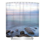 Lake La Jolla Pano Shower Curtain