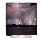 Lake Lightning 2 Shower Curtain