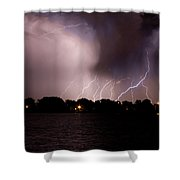 Lake Lightning 3 Shower Curtain