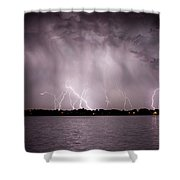 Lake Lightning Shower Curtain