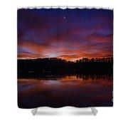 Lake Logan Sunset, Ohio Shower Curtain