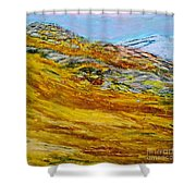 Lake Los Angeles Evening Somg Shower Curtain