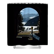 Lake Louise Inside View Shower Curtain