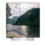 Lake Lucerne From A Boat  Shower Curtain