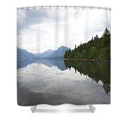 Lake Macdonald Reflection Shower Curtain