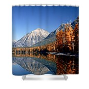 Lake Mcdonald Autumn Shower Curtain