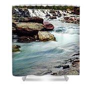 Lake Mcdonald Falls, Glacier National Park, Montana Shower Curtain