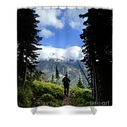 Lake Mcdonald From Mt Brown - Glacier National Park Shower Curtain