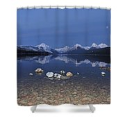 Lake Mcdonald Rocks Shower Curtain
