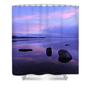 Lake Mcdonald Sunrise  Shower Curtain