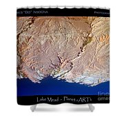 Lake Mead - Planet Art Shower Curtain