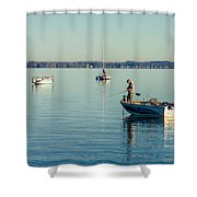 Lake Mendota Fishing Shower Curtain
