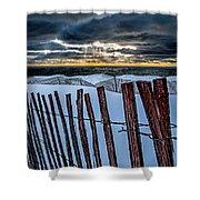 Lake Mi Sunset 15 Shower Curtain