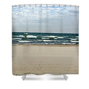 Lake Michigan 10.20.15 Shower Curtain