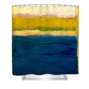 Lake Michigan Beach Abstracted Shower Curtain