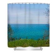 Lake Michigan In May Shower Curtain