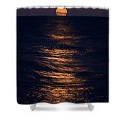 Lake Michigan Moonrise Shower Curtain