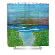 Lake Michigan Sunrise 02132016 Shower Curtain