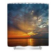 Lake Michigan Sunset Shower Curtain