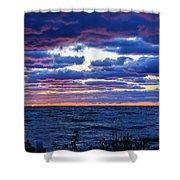Lake Michigan Windy Sunrise Shower Curtain