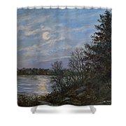 Lake Moonrise Shower Curtain