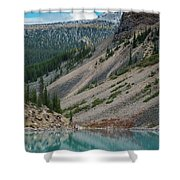 Lake Moraine Angles Shower Curtain
