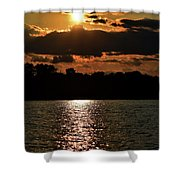 Lake Murray Golden Hour Shower Curtain