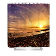 Lake Nipissing Sunset Callander Bay Shower Curtain