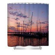 Lake Norman Sunset Shower Curtain