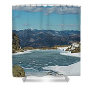 Lake Of Glass Winter Shower Curtain