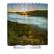 Lake Of The Clouds Sunrise Shower Curtain