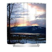 Lake Okanagan Sunset At Vernon Shower Curtain