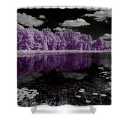 Lake On Another Planet Shower Curtain