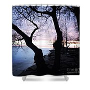 Lake Ontario In March  Shower Curtain