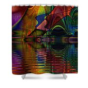 Lake Opalescence Shower Curtain