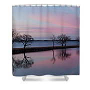 Lake Overholser Sunset Shower Curtain