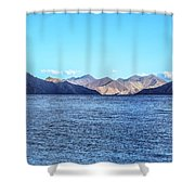 Lake Pangong Shower Curtain